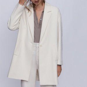 Zara textured wool blend coat